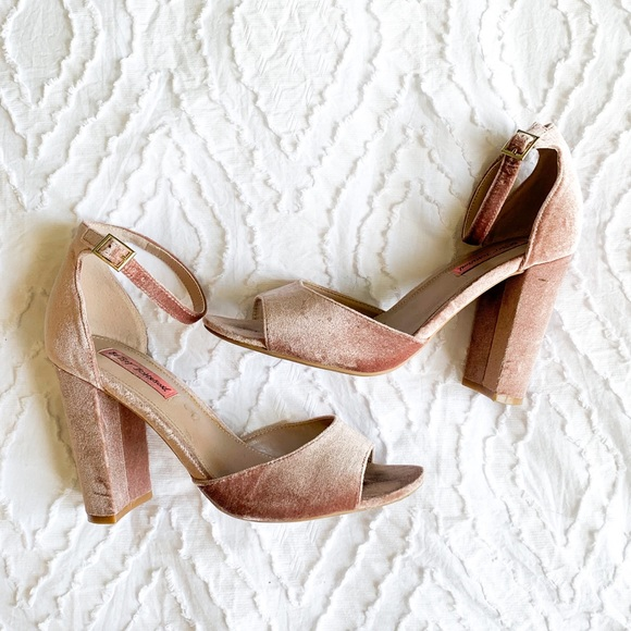 Betsey Johnson Shoes Betsy Johnson Blush Colored Block Heels Poshmark
